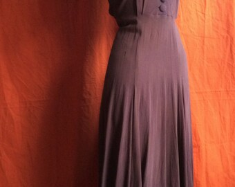Knockout 1940's rayon dress