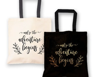 And So The Adventure Begins Tote Bag - Wedding Tote Bag - Wedding Welcome Bags (EB3216T)