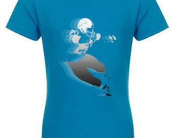 "Girls Barry Sanders ""Juke"" custom fitted crew tee"