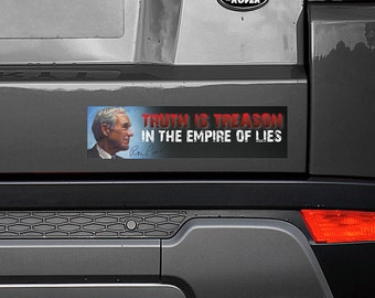 "Truth is Treason In The Empire of Lies Ron Paul 11.5""x3"" Bumper Sticker Decal"