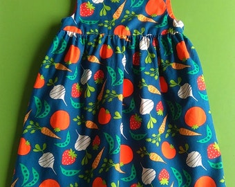 Vegetable Garden Baby/Toddler/Child Dress. Made to Order. Available in sizes 3-6 months up to 5 years. LAST ONE!