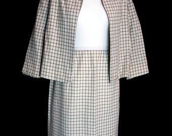 Original Vintage 1950's Skirt Suit by Courtelle, London Town, Size M