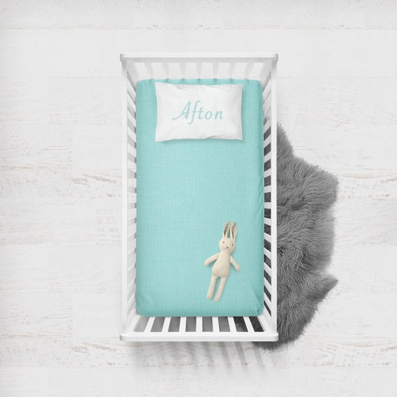 Fitted Crib Sheet Aqua Flat Crib Sheet Crib Sheet Toddler