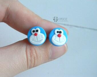 Doraemon inspired, Earrings, earrings