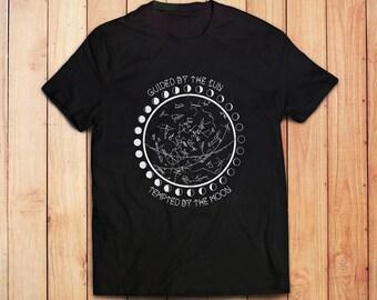 Moon Phase Shirt // Astronomy Mens TShirt - Mens Shirts - Gift for Boyfriend // Boho Clothing - Bohemian Tops // Groomsmen Gift