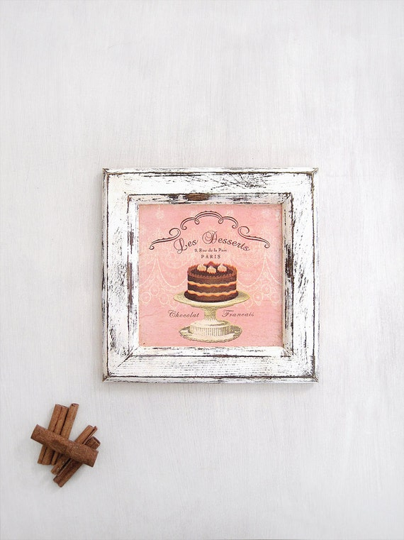 Cake Kitchen Wall Frame French Country Wall Art Decor