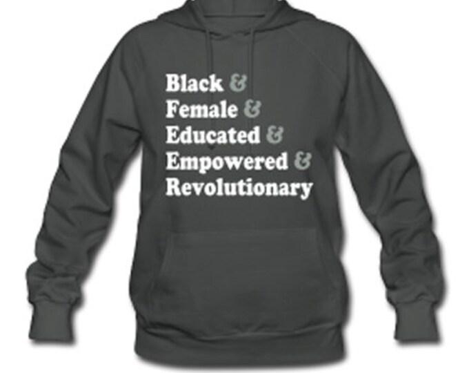 Traits of the Black Woman Women's Hooded Sweatshirt - Gray