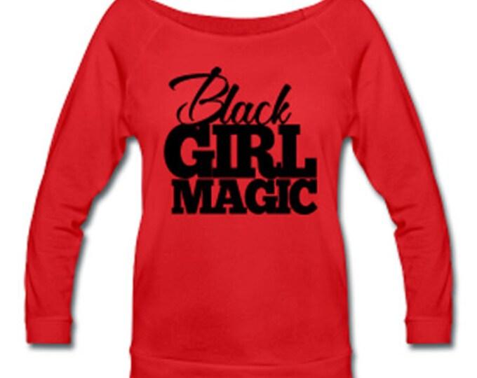Black Girl Magic Off Shoulder T-shirt - Red
