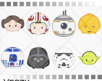 Tsum tsum, tsum tsum clipart, tsum tsum svg, tsum tsum bundle, Star Wars svg, SVG Files, svg files for cricut, cricut downloads,