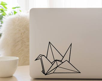 Origami Crane, Macbook Decal, Apple Macbook, iPad and other laptop stickers, Mac Decal, iPad Decals, iPad stickers