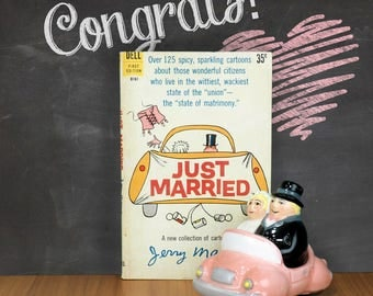 1960 Just Married, Book of Marriage Cartoons by Jerry Marcus, Humorous Wedding Gift