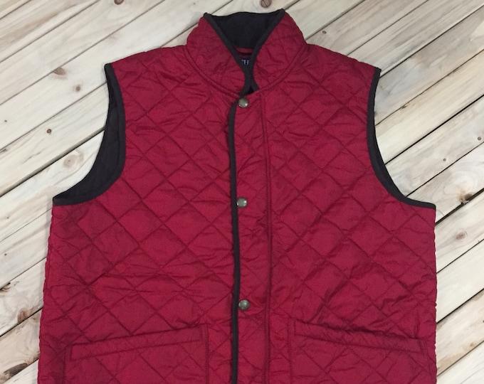 Featured listing image: Ralph Lauren Chaps Quilt vest suede trim