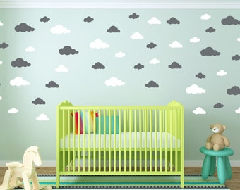 Cloud Wall Decal   Clouds Decal   Cloud Sticker   Kid Wall Decoration    Baby Room Part 26