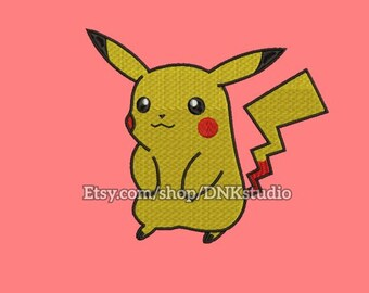 Pokemon Pikachu Machine Embroidery Design - 6 Sizes - INSTANT DOWNLOAD