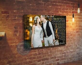 Wedding First Dance Lyrics Song, Wedding Canvas Photo Decor Words Vows lyrics, Anniversary Wedding Art, cotton, Gift for her, RockinCanvas