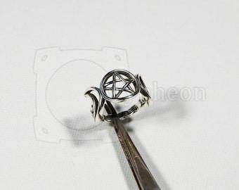 Triple Goddess Ring, 925 Silver