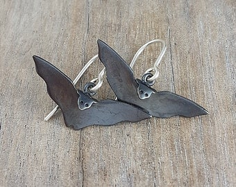 bat earrings in sterling silver