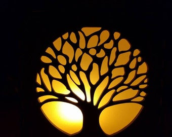 Celtic tree of life night and accent light