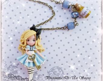 OOAK doll Alice necklace