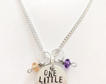 "Disney Figment Inspired Hand-Stamped Necklace - ""One Little Spark"""