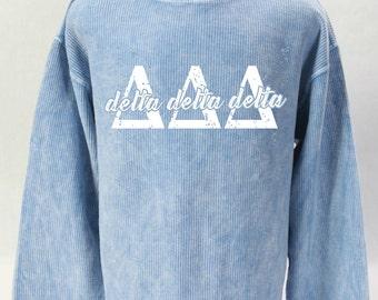 Delta Delta Delta Corded Sweatshirt