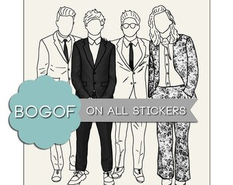 AMAs Sticker One Direction Harry Styles Louis Tomlinson Niall Horan Liam Payne Art Illustration Drawing Stationery