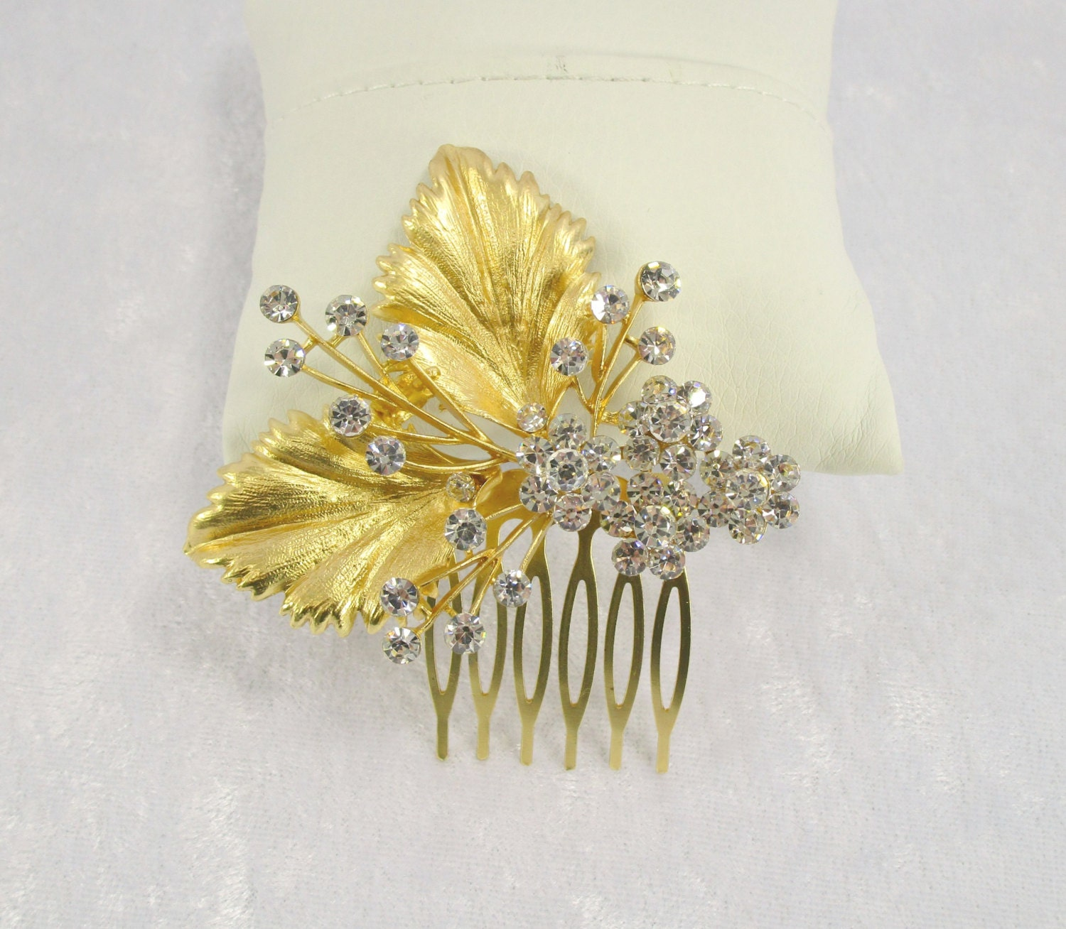 Bridal hair comb decorative hair comb by stoneycreekboutiques - Decorative hair slides ...