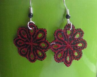Lace Flower Earrings - Various Designs