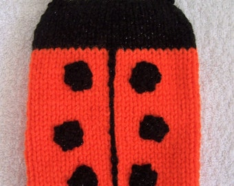 Hand Knitted Orange Ladybird Kindle Cosy / Ladybug Kindle Cover / Kindle Case