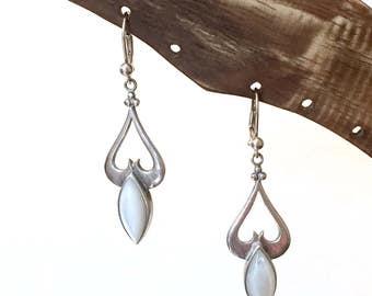 Earrings, Drop Earrings, Gift For Her, Everyday Earrings, Silver Earrings, Dangle Earrings, Long Earrings, Boho Jewelry, Gemstone Earrings