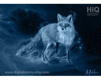 S042b: Shamanic Guardians - Fox - portrait