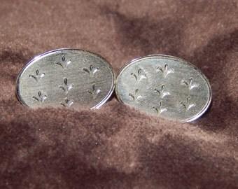 Vintage LAMODE Cufflinks Lamode Sterling Silver Fleur De Lis Vintage Cufflinks