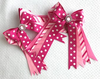 Horse show bows, equestrian clothing, pink chevron, sparkle bling!/Ready2Mail