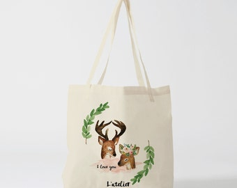 X304Y tote bag love, bag canvas cotton bag, diaper bag,handbag, tote bag, bag of race, current bag, shopping bag, gift for friend, gift