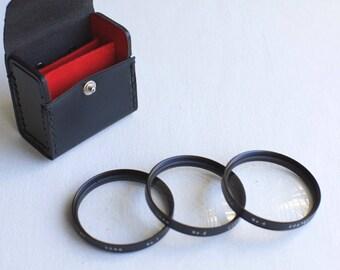 Vivitar Macro Close-up Lens Filter Set of 3 with Case +1, +2. +4 - Fits 52mm Diameter Lenses