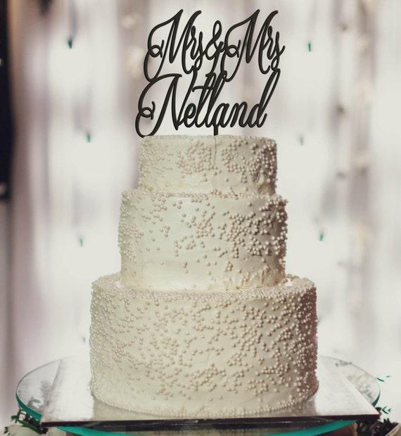 Custom Cake Topper, Mrs & Mrs, Mrs and Mrs,  Wedding Cake Topper, Engagement Cake Topper, Anniversary Cake Topper