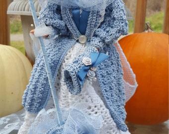 1896 Motoring Costume Crocheted Doll