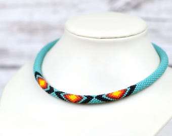 Turquoise necklace minimalist necklace everyday necklace ethnic jewelry tribal necklace anniversary gifts-for-wife gift-for-her boho jewelry