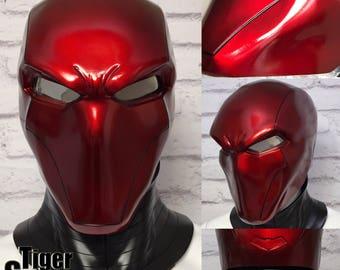 Red Hood helmet (helmet only, neck piece not included) - Deep Metallic Red