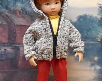 "3-piece Hoody Sweater set to fit 13"" Little Darling  boy doll"