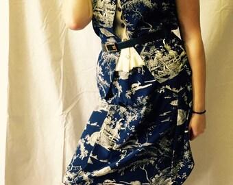 J Mclaughlin Toile Silk Vest Skirt Suit
