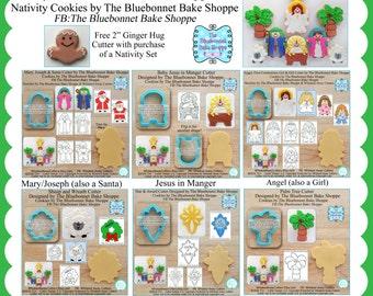 Complete Nativity Cookie Cutter & Fondant Cutter Set Designed by The Bluebonnet Bake Shoppe