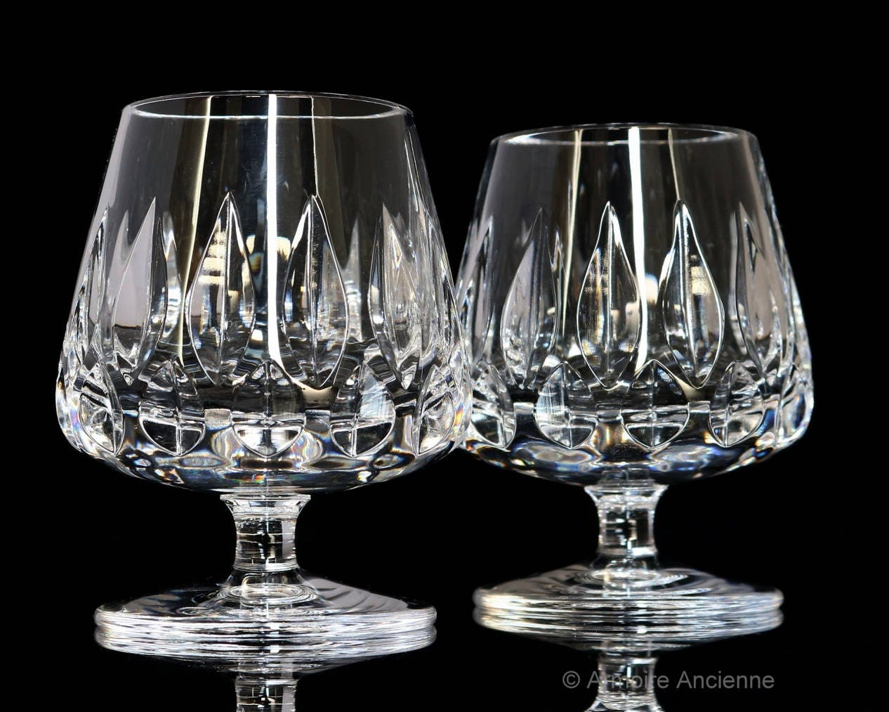 Heavy Crystal Cognac Glasses Brandy Snifters Balloon