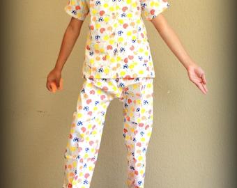 Fruit Dreamz Children Summer Pajama / Spring Pajama / Button Down Pajama