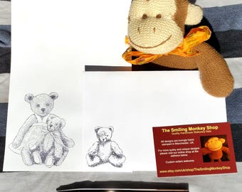 Teddy Bear Stationery Set - Teddy Writing Paper with matching premium envelopes - Teddy Letter Writing Set - Cute Nostalgia Gift Present