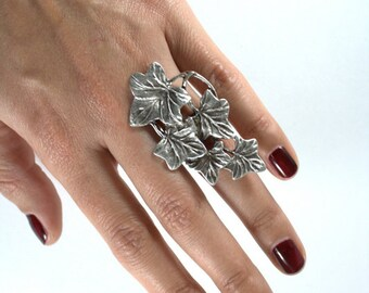 IVY ring / / ring/Turkish silver plated jewelry/sheet/Ivy leaf/nature