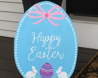 Happy Easter Wood Hand painted Sign