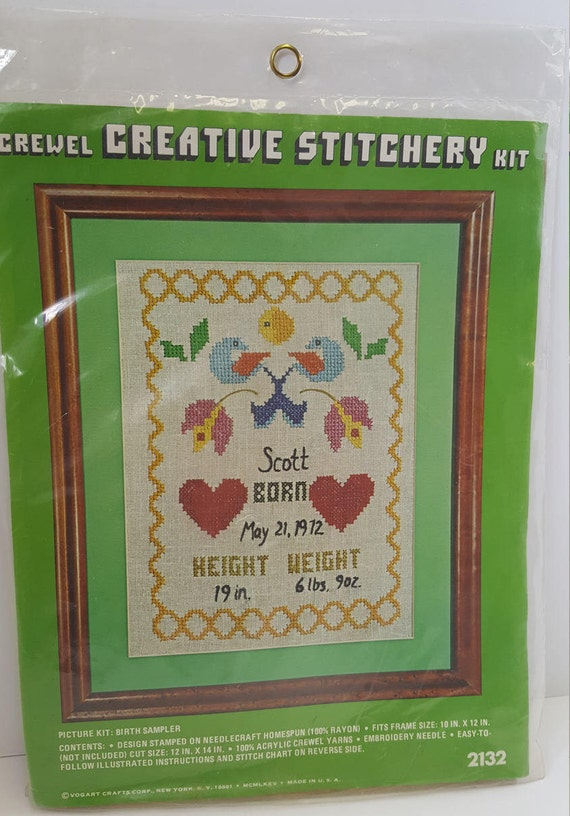 Diy crewel kit personalize needlepoint by creative