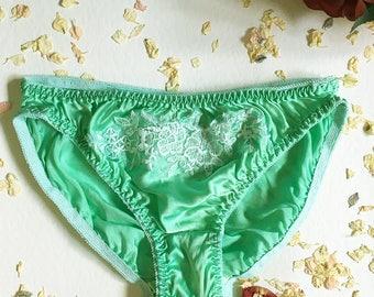 Joan Green Silk Lingerie Panties