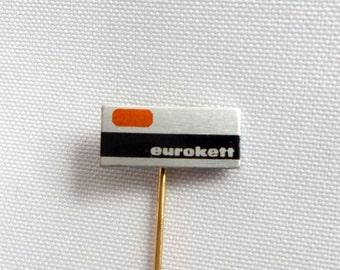 Eurokett Pin, Eurokett Label Company Pin - Eurokett Labels - vintage Eurokett Eurokett Badge